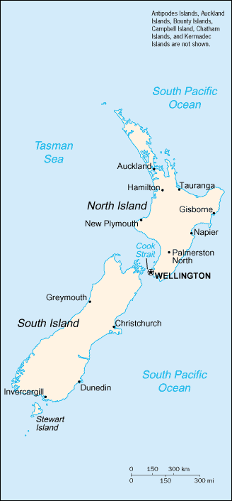 Towns and cities in New Zealand
